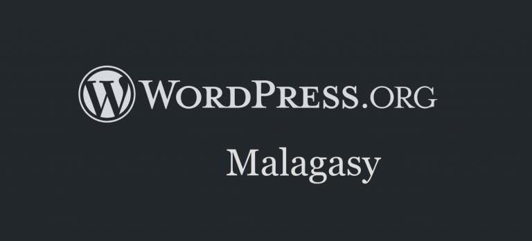 logo header wordpress.org malagasy